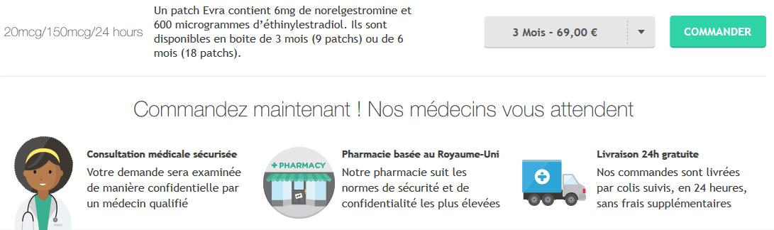 LE PATCH EVRA - doctissimofr