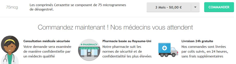 pilule cerazette prix
