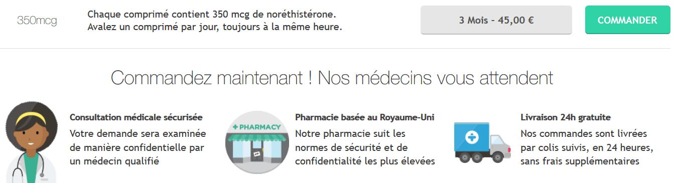 pilule noriday prix