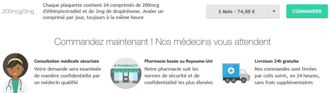 pilule belara prix