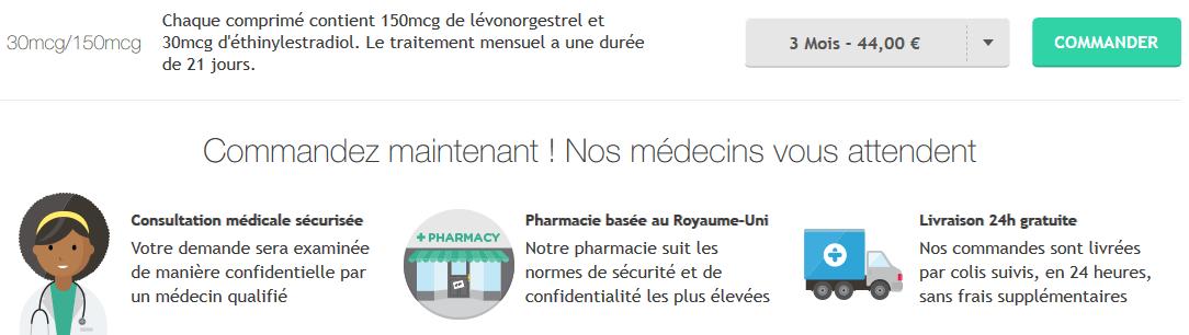 pilule minidril prix