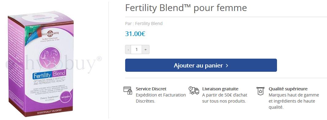 acheter fertility blend femme