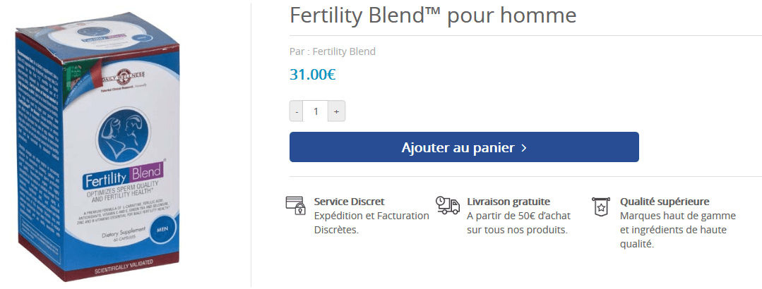 acheter fertility blend homme