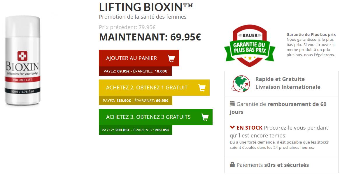 bioxin lifting mammaire prix